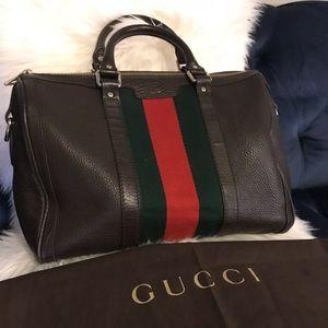 Gucci Boston Brown Leather Bag